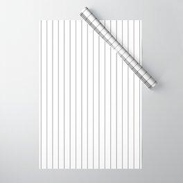 White Black Pinstripes Minimalist Wrapping Paper