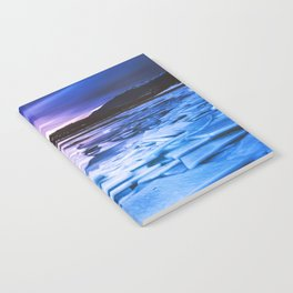 Lake Effect // Frozen Ice Water Sunset Mountain Landscape Photography Pink Purple Blue Clouds Notebook