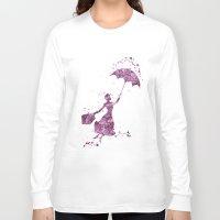 mary poppins Long Sleeve T-shirts featuring Mary Poppins Disneys by Carma Zoe