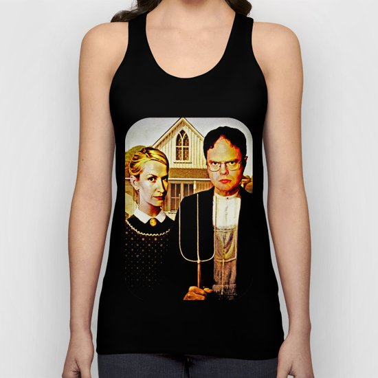 Dwight Schrute & Angela Martin (The Office: American Gothic) Unisex Tank Top