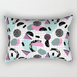 Joshin - memphis throwback retro pop art geoemetric pattern print unique trendy gifts dorm college Rectangular Pillow