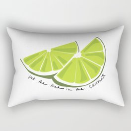 Lime in the Coconut Rectangular Pillow