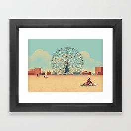 Urban Wildlife - Peacock Framed Art Print