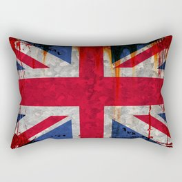 Paint splattered Union flag Rectangular Pillow