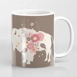 Floral Buffalo Coffee Mug