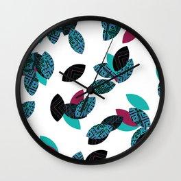 Aztec leafs Ioo Wall Clock
