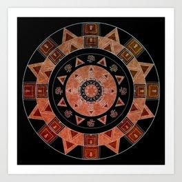 ethnic circle Art Print