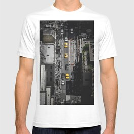 Yellow Cab from Above - Original #society6 exclusive T-shirt