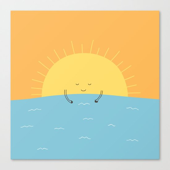 good morning sunshine! Canvas Print