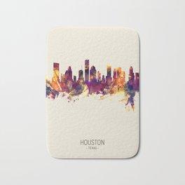 Houston Texas Skyline Bath Mat