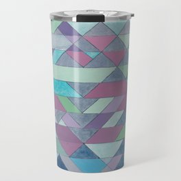 Triangle Pattern no.3 Violet Travel Mug