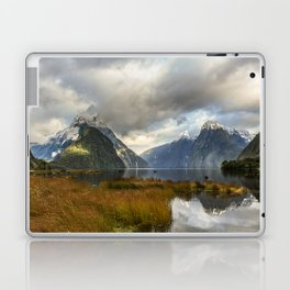 Mitre Peak, Milford Sound, New Zealand Laptop & iPad Skin