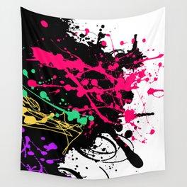Funky splatter Wall Tapestry