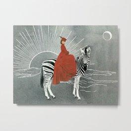 My zebra and I Metal Print