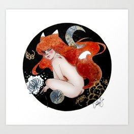 Little Kitsune Art Print