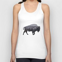 american Tank Tops featuring The American Bison by Davies Babies