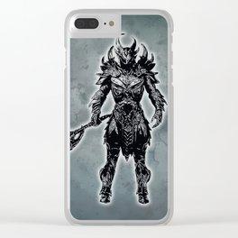 Daedric Warrior Clear iPhone Case
