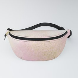 Pretty In Pink And Gold Delicate Abstract Painting Fanny Pack