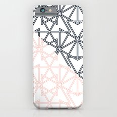 Black and Pink Crop Symmetry Slim Case iPhone 6s