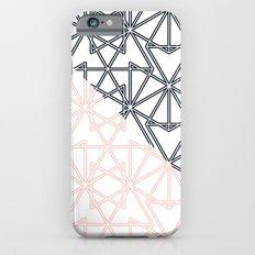 Black and Pink Crop Symmetry iPhone 6s Slim Case