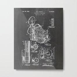 Camera Patent Poster Drawing Metal Print