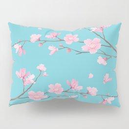 Cherry Blossom - Robin Egg Blue Pillow Sham