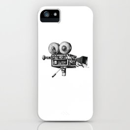 Awesome Distressed Film Video Camera Cameraman  iPhone Case