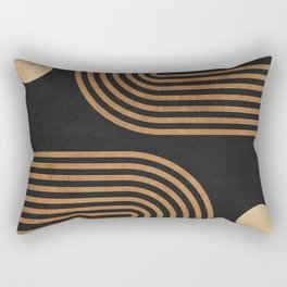 Arches - Minimal Geometric Abstract 2 Rectangular Pillow