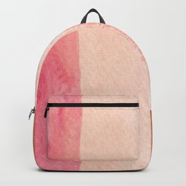 Earth Breeze light bubblegum Pink & Peach and Brown Coca Mocha _hand painted watercolor Backpack