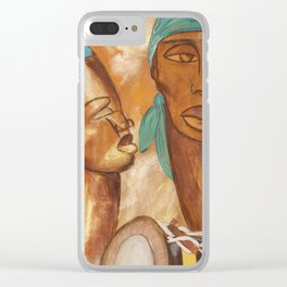 Etnik Drum in love vibes Clear iPhone Case