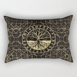Tree of life  -Yggdrasil and  Runes Rectangular Pillow