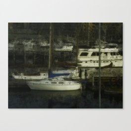 On the docks Canvas Print