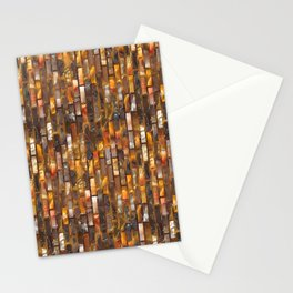 Gold Glass Tile Texture Stationery Cards
