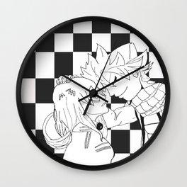 Nalu in Black and White Wall Clock