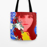 her art Tote Bags featuring HER by Lisamce