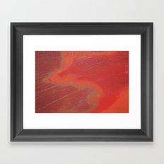 Orange Wild Or Rusted Framed Art Print