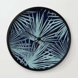 Tropical Fan Palm Leaves #6 #tropical #decor #art #society6 Wall Clock