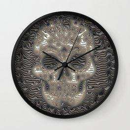 Stunning ribbed Skull Wall Clock
