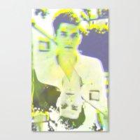john mayer Canvas Prints featuring Young John by Kat Monkey