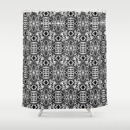 bw texture 10 Shower Curtain