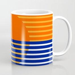 Orange Split Sun Coffee Mug
