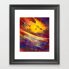 ocean sun Framed Art Print