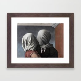 The Lovers II (Les Amants) 1928, Artwork Rene Magritte For Prints, Posters, Shirts, Bags Men Women K Framed Art Print