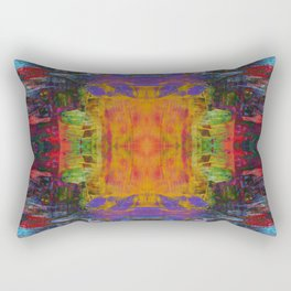 Cathedral Gorge Pattern Rectangular Pillow