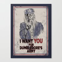 dumbledore Canvas Prints featuring Uncle Dumbledore by spacemonkeydr