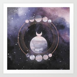 Full Moon Salutation Art Print