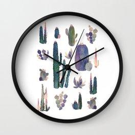 Watercolor Catus Wall Clock