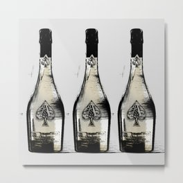 spade champagne Gold, illustration by miart Metal Print