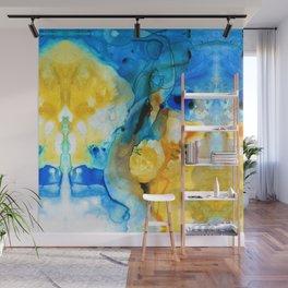 Iced Lemon Drop Abstract Art By Sharon Cummings Wall Mural