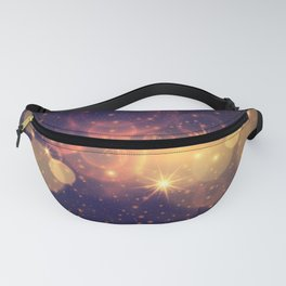 Shiny Sparkling Festive Holiday Bokeh Decorative Fanny Pack
